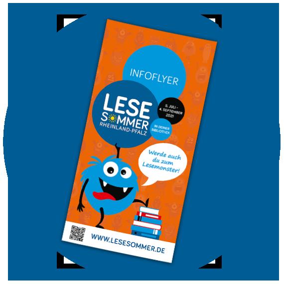 LESESOMMER Rheinland Pfalz Infoflyer Blau